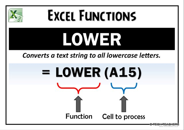 EXCEL-LOWER