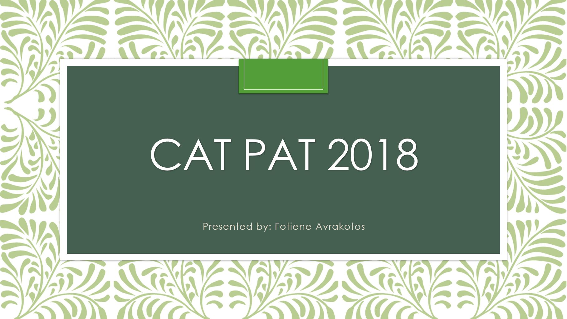 Phase 2: CAT Gr 12 PAT 2018 (DoE)
