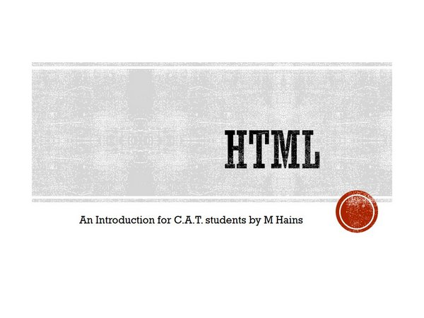 HTML for students