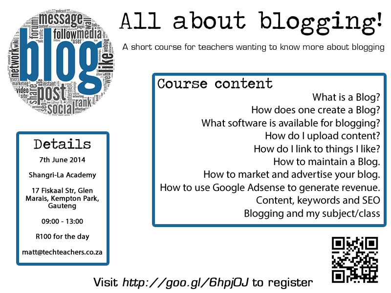 All about blogging – course for teachers