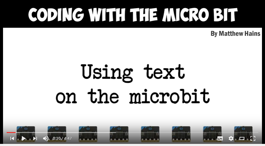 Using text on the Microbit